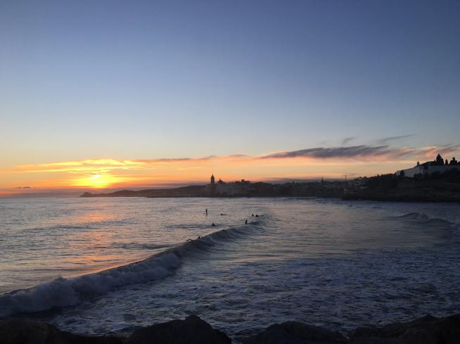 Puesta de sol en Sitges