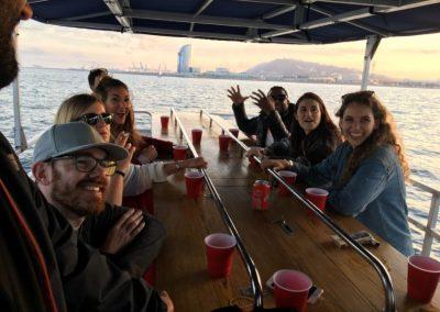 fiesta en barco barcelona