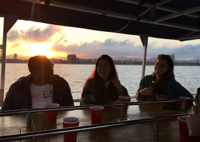 sunset pedal boat barcelona
