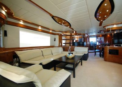 Luxury yacht inside
