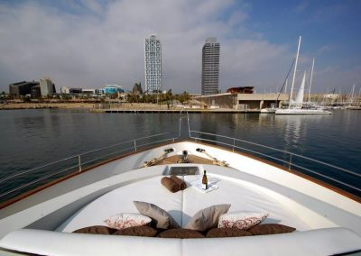 bow of luxury yacht barcelona