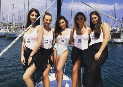 girls boat barcelona