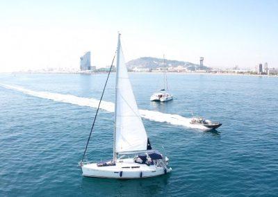kind of boats barcelona drone