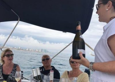 wine tasting on board